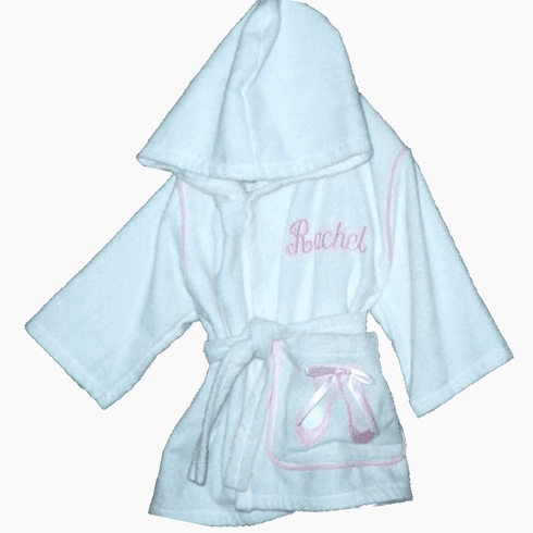 Child or Teen 100%Terry Cotton Hooded Robe (Ballet)