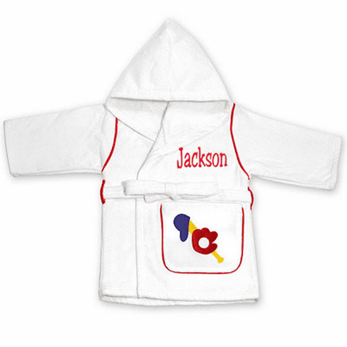 Child or Teen 100%Terry Cotton Hooded Robe (Sports) Personalize Me