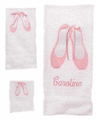 Childs 100% Super Plush Cotton Towel Set (Ballet)