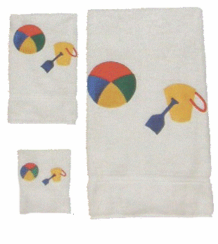 Childs 100% Super Plush Cotton Towel Set (Yellow Pail)