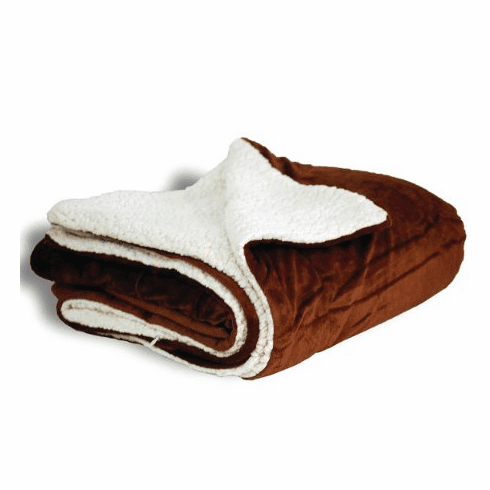 "Personalized Chocolate Micro Mink Sherpa Throw 50"" x 60"""
