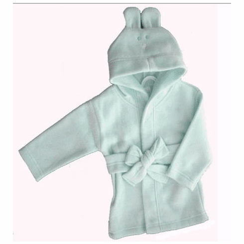 Clearanced Infant Blue Fleece Hooded Bunny Baby Robe Personalize Me