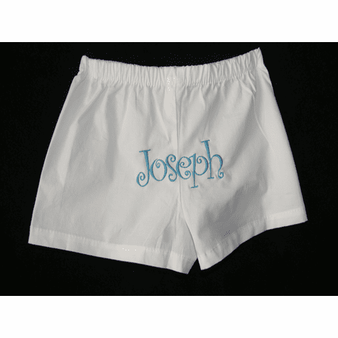 Curlz Monogram Personalized Baby Boy Boxer Shorts Underware Diaper Cover
