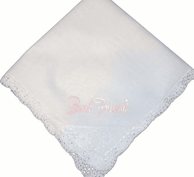 Custom Best Friend Embroidered Handkerchief