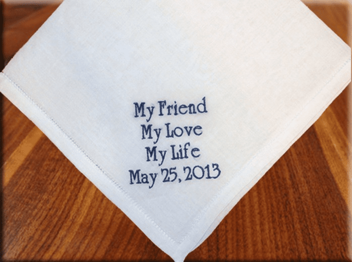 Custom Personalized Hemstitched Handkerchief