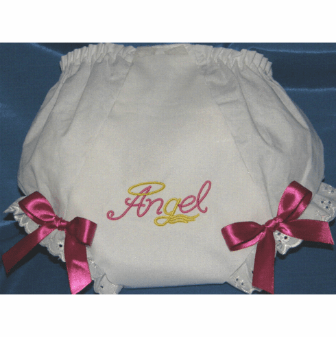 Embroidered Diaper Cover Bloomers Angel