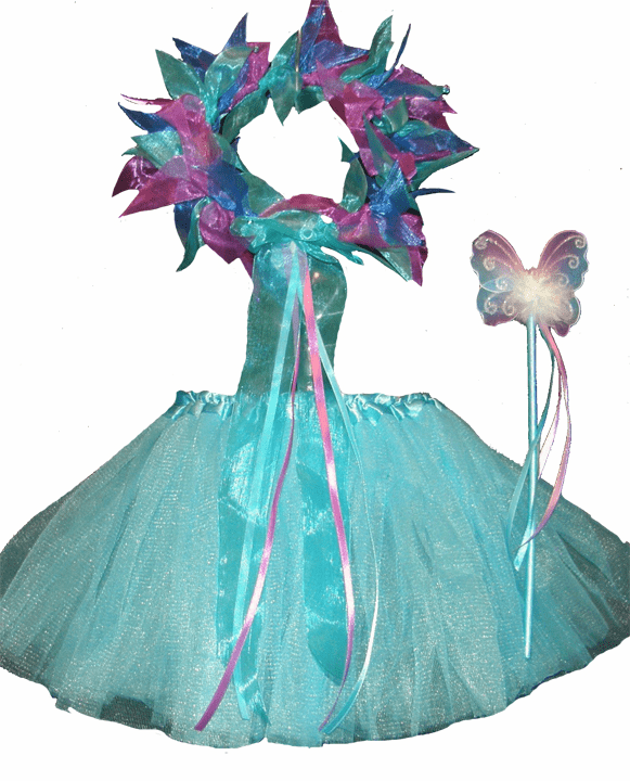 Fairy Princess Tutu, Headpiece & Wand Set