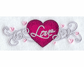 Fluershied Love Handkerchief Embroidery Design hank8