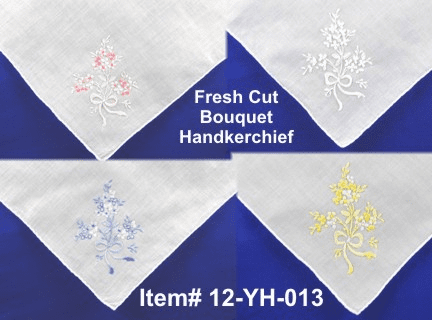 Fresh Cut Bouquet Handkerchief