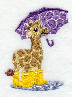 Giraffe w/Umbrella