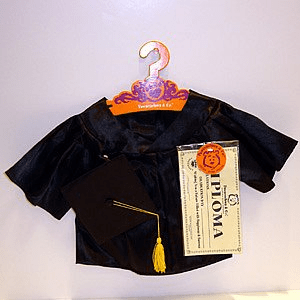 Graduation Outfit  Black Or White Plush or Doll Clothing