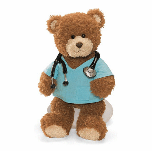Gund 015396 Plush Doctor Bear - PERSONALIZE ME!