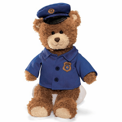 Gund 015399 Plush Police Officer Bear - PERSONALIZE ME!