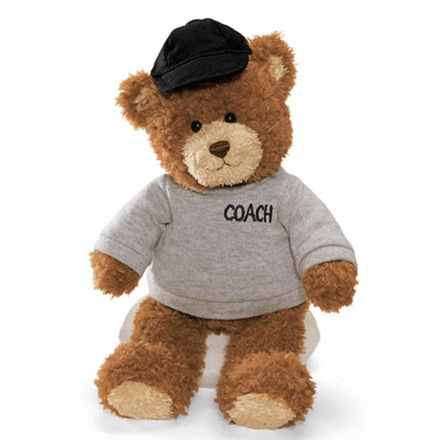 Gund 015407 Plush Coach Bear - PERSONALIZE ME!
