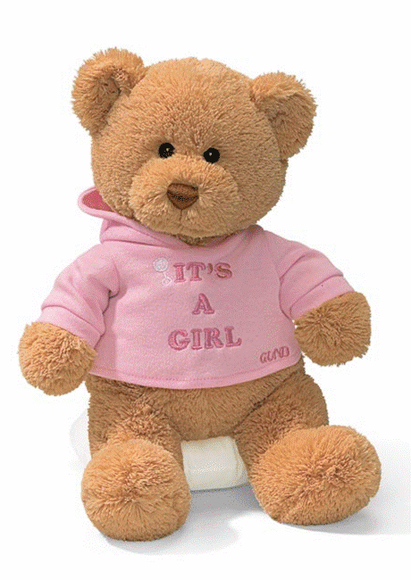"Gund 015419 Plush ""IT'S A GIRL BEAR"" Bear - PERSONALIZE ME!"