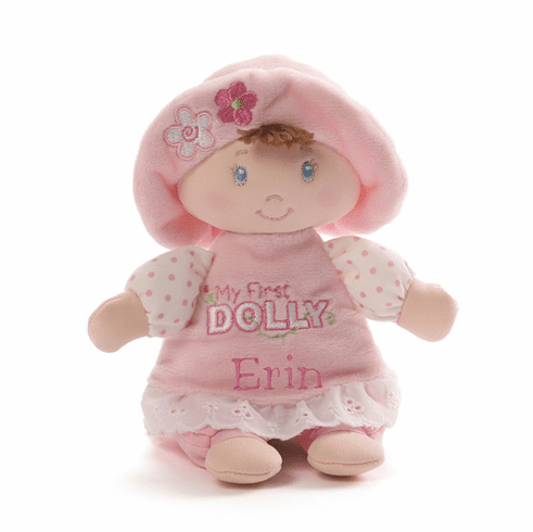 Gund First Dolly Small Size Brown Hair Blue Eyes
