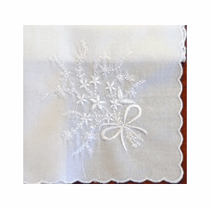 Handkerchiefs With White Embroidery