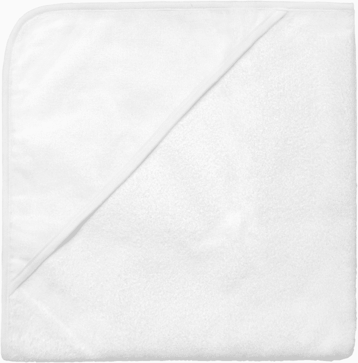 Hooded Infant Baby Bath Towel White Personalizable