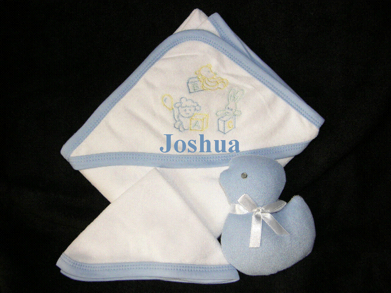 Hooded Infant Towel, Wash Cloth & Terry Toy Set  Personalize Me