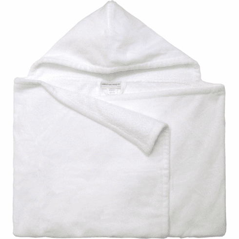 Hooded Kids Bath Towel White Personalizable