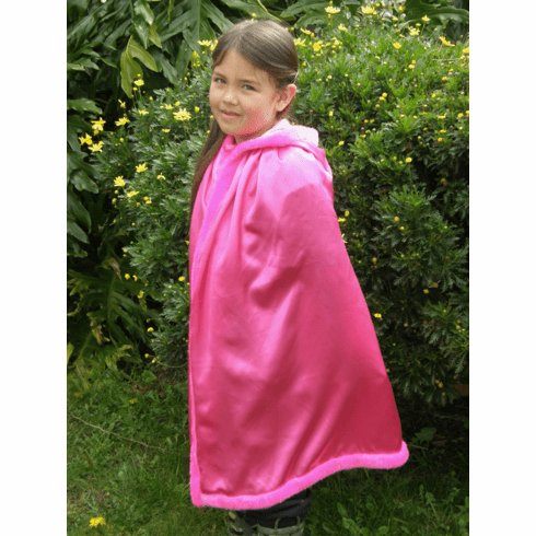 Hot Pink Shimmery Princess Dress-up Play-Pretend Cape - PERSONALIZE ME!