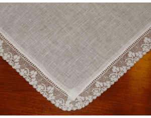Imported Irish Linen with Shamrock Lace Handkerchief