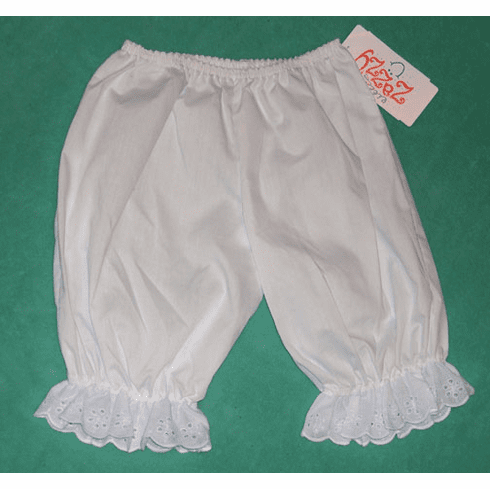 Infant orToddler Eyelet Trim Pantaloon Bloomers, Diaper Cover
