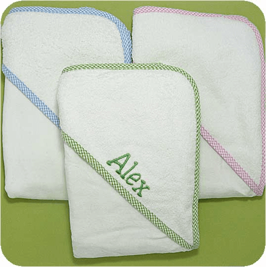 Infant Velour Terry Baby Hooded Bath Towels  Personalize Me