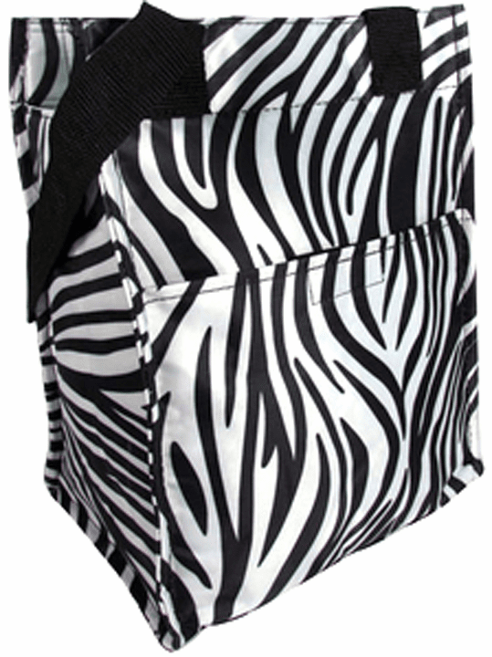 Insulated Lunch Tote Zebra