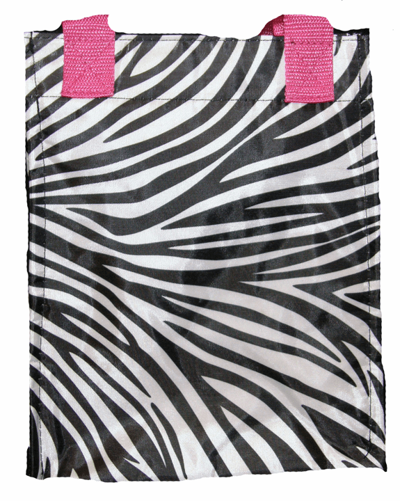 Insulated Lunch Tote Zebra Pink Trim