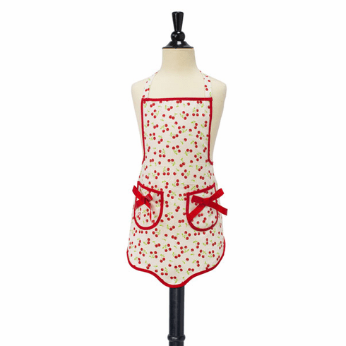 Jessie Steele Children's Bib Ava - Retro Cherries Apron