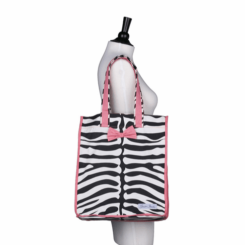 Jessie Steele Reusable Tote Cream & Black Zebra 807-JS-95K
