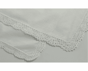 Lace Handkerchief - Ivory Personalize with Embroidery