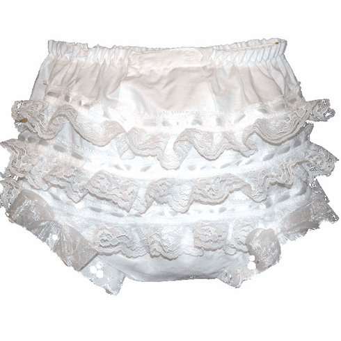 Lace, Ribbon & Ruffles Diaper Cover Bloomers