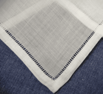 Ladies 100% Linen Hemstitched Handkerchief