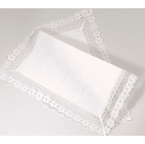 Ladies'  Linen Garden Design Handkerchief
