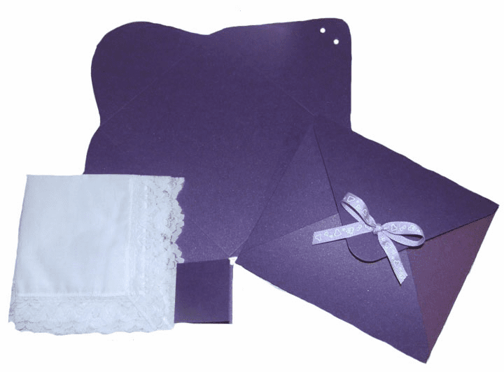 Ladies' Handkerchief Box Deep Purple Flat Fold