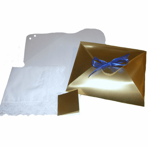 Ladies' Handkerchief Box Gold Foil Flat Fold