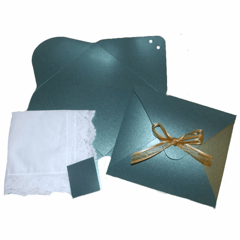 Ladies' Handkerchief Box Shimmering Emerald Green Flat Fold