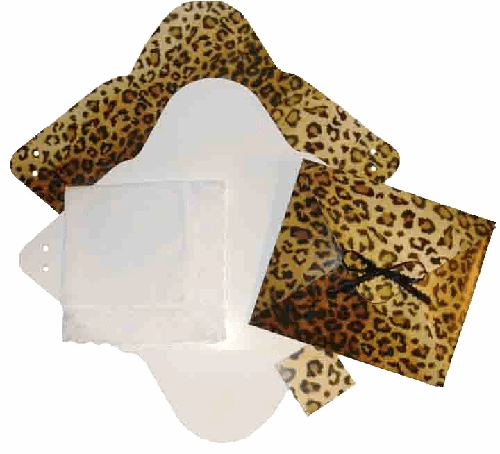 Ladies Handkerchief Envelope Flat Fold Animal Print Leopard