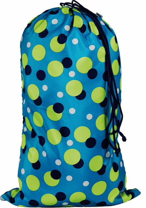 Laundry Bags Large Aqua Dots