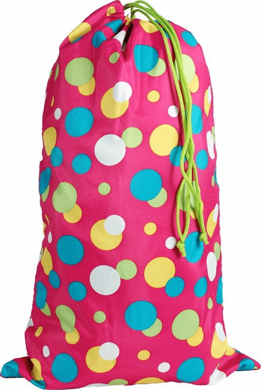 Laundry Bags Large Pink Dots