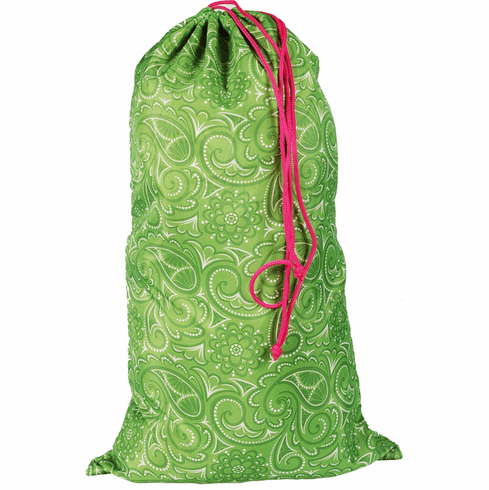 Laundry Bags Large Spring Green Paisley