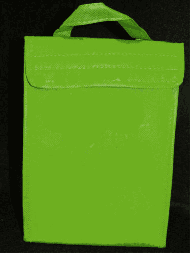 Lime  Insulated ECO Lunch Bag Tote Non Woven Polypro