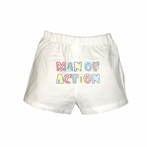 Man of Action Personalized Baby Infant Boxers White