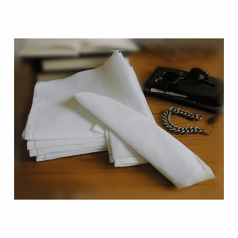Men's 100% Linen Handkerchief by the Dozen