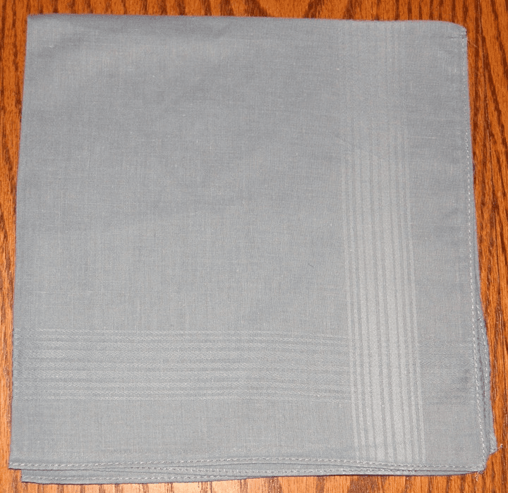 Men's 100% Cotton Gray Satin Stripe Handkerchief