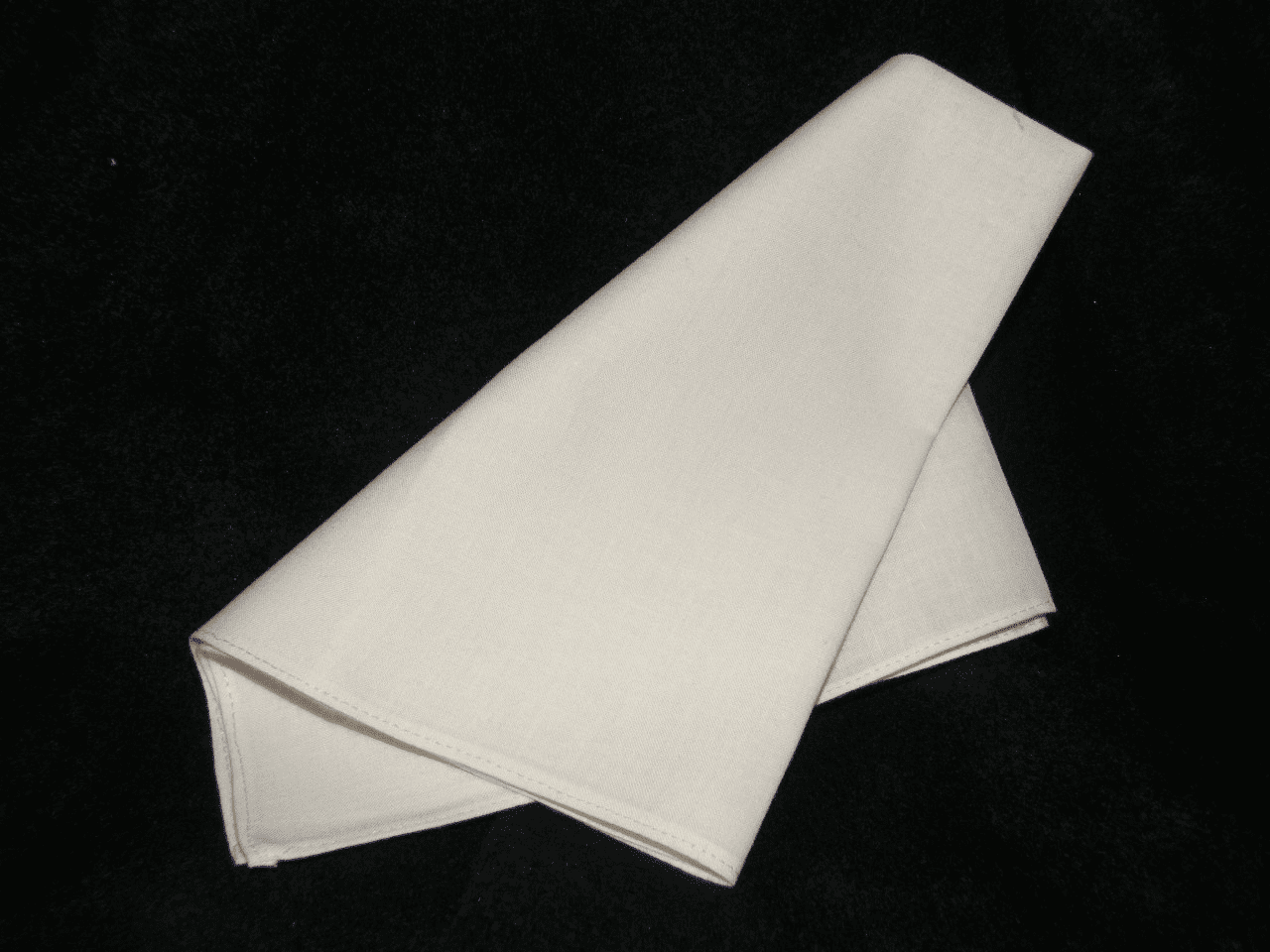 Men's 100% Cotton Ivory Wedding Handkerchief