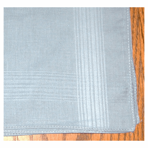 Men's 100% Cotton Light Blue Satin Stripe Handkerchief