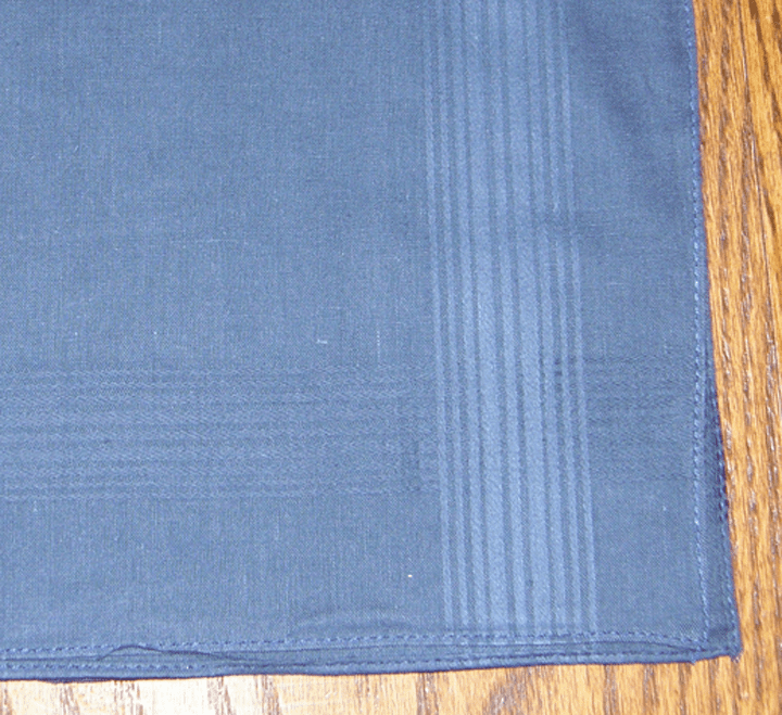 Men's 100% Cotton Navy Satin Stripe Handkerchief